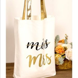 Handbags - Miss to Mrs Canvas Tote Bag